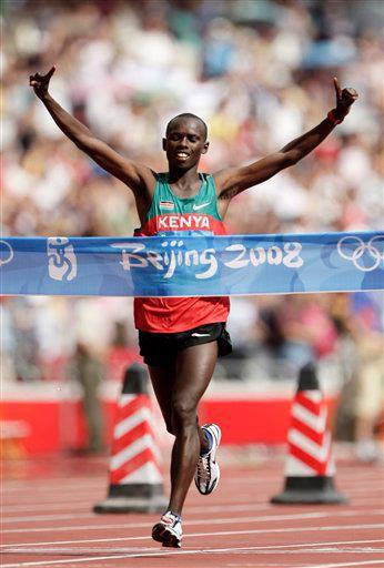 Samuel Kamau Wanjiru during the 2008 Olympics
